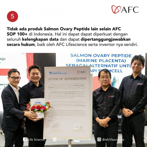 Produk SOP Subarashi dan AFC Utsukushhii