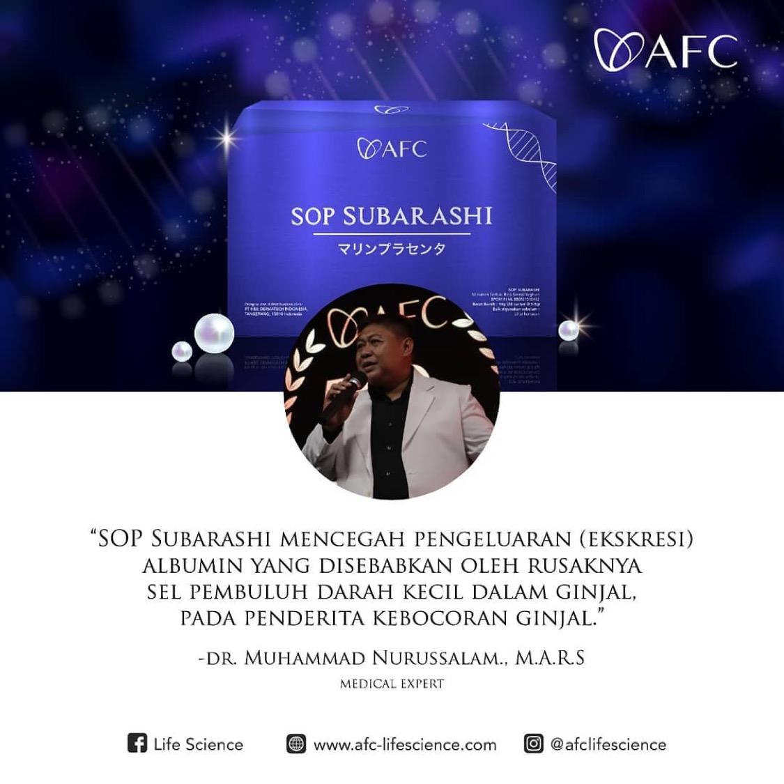 Testimoni SOP Subarashi dr. Muhammad Nurussalam, M.A.R.S
