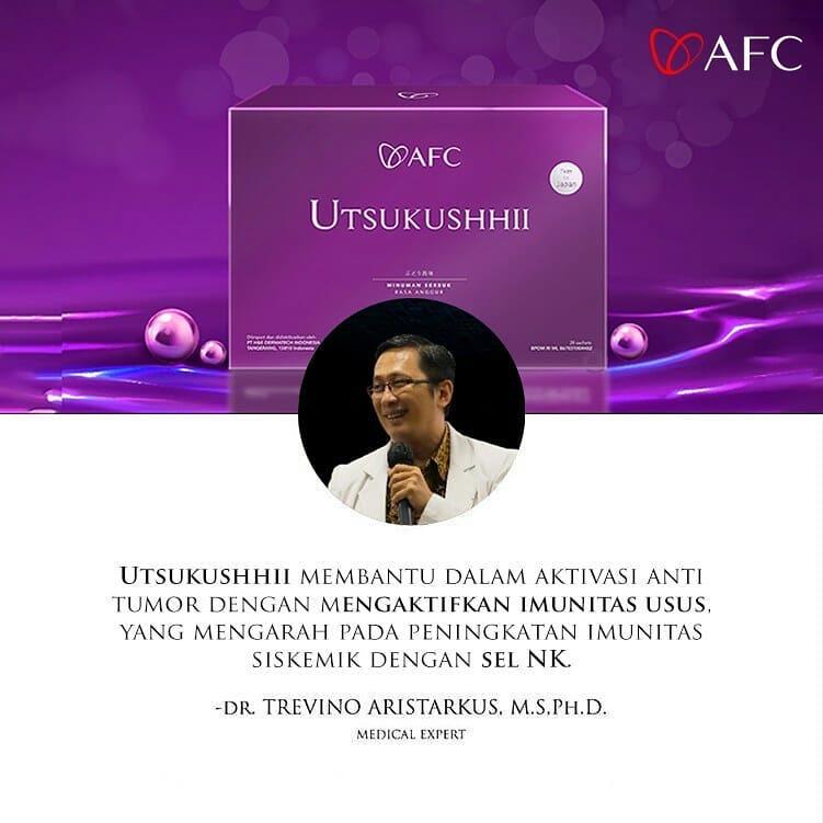 Testimoni AFC Utsukushhii dr. Trevino Aristarkus, M.S.Ph.D.