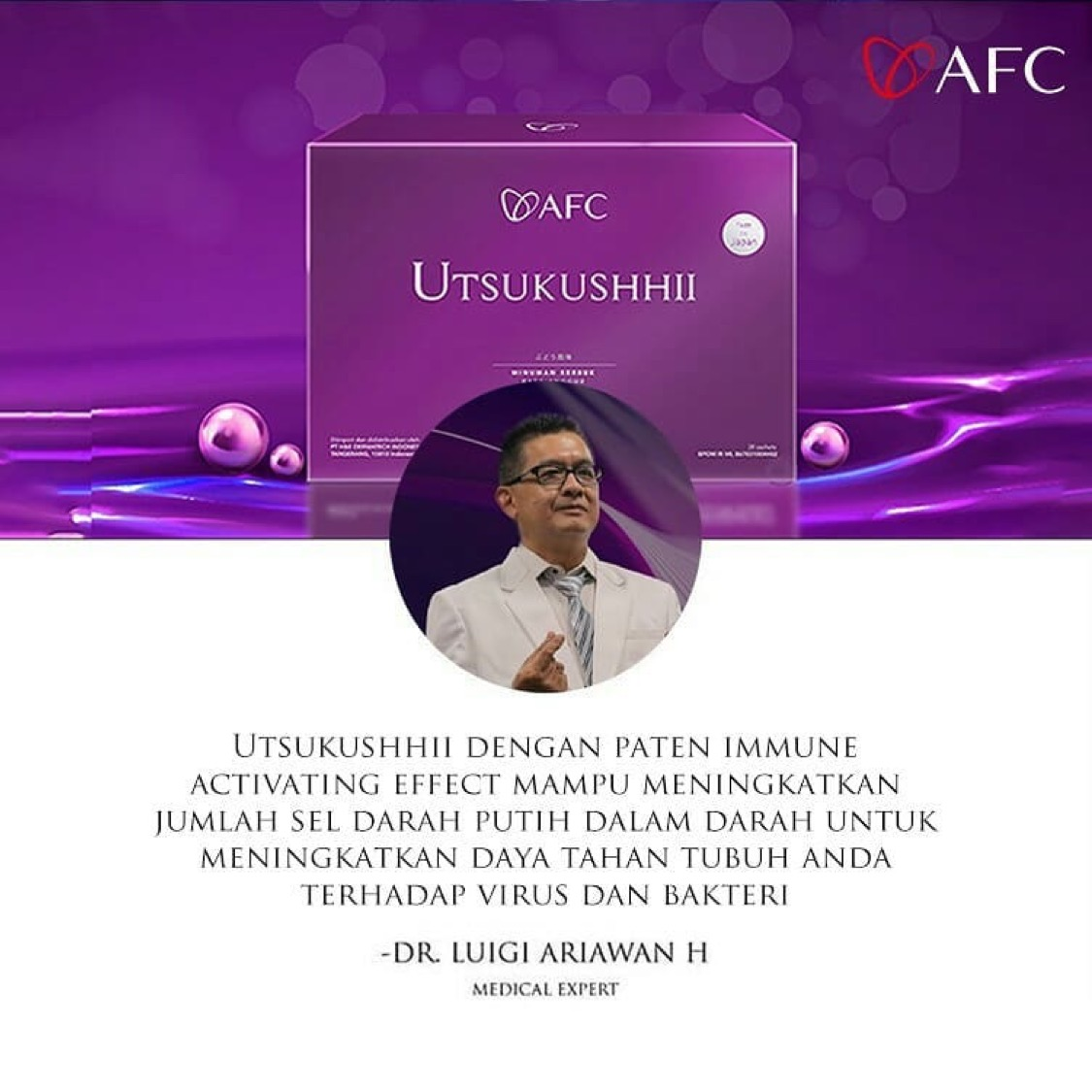 Testimoni AFC Utsukushhii dr. Lugi Ariawan H